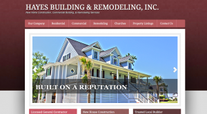 Kershaw County Website Design - Hayes Building Inc.